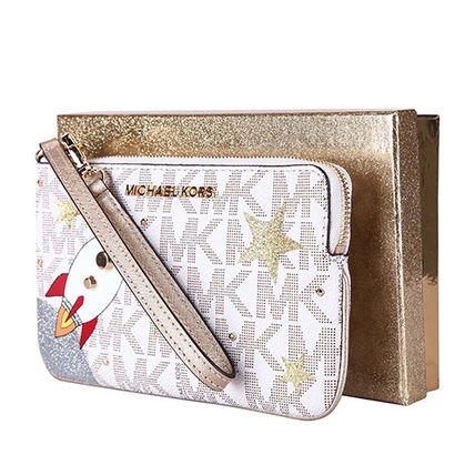 Michael Kors Pouches Cosmetic Bags Star Pvc Clothing