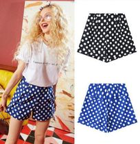 ELF SACK Printed Pants Short Dots Casual Style Street Style Shorts
