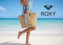ROXY Casual Style A4 Plain Purses Oversized Straw Bags
