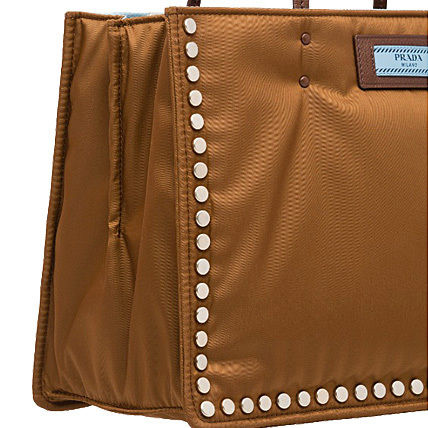 PRADA Totes Casual Style Nylon Studded Bi-color Plain Totes 3