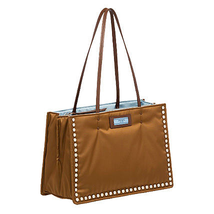 PRADA Totes Casual Style Nylon Studded Bi-color Plain Totes 4