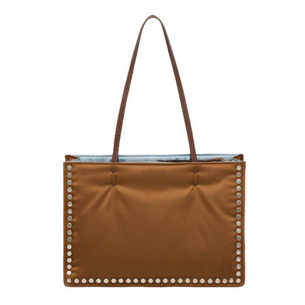 PRADA Totes Casual Style Nylon Studded Bi-color Plain Totes 5