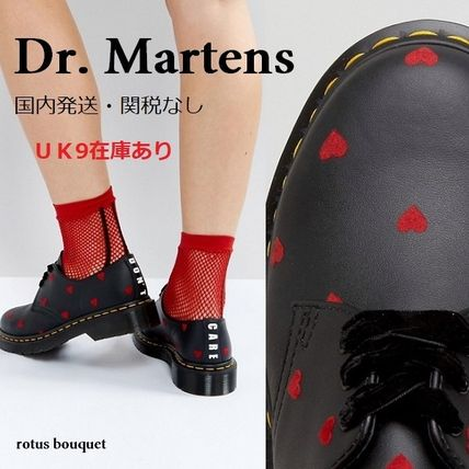 Heart Round Toe Casual Style Street Style Leather