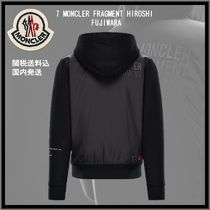 MONCLER Unisex Blended Fabrics Long Sleeves Plain Cotton Hoodies