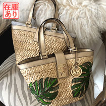 Michael Kors Tropical Patterns Straw Bags
