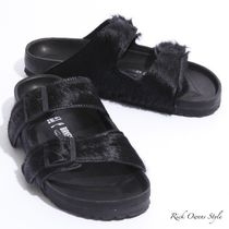 RICK OWENS Fur Collaboration Sandals
