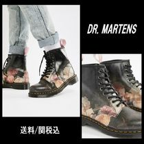 Dr Martens Flower Patterns Collaboration Leather Boots