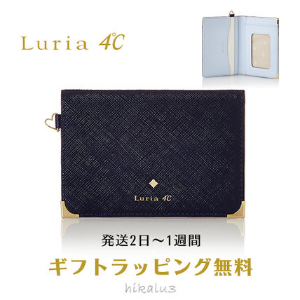 Bi-color Plain Leather With Jewels Card Holders