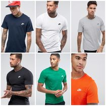 Nike Crew Neck Street Style Plain Cotton Short Sleeves