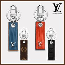 Louis Vuitton Monogram Blended Fabrics Plain Leather Keychains & Holders
