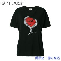 Saint Laurent Crew Neck Medium Short Sleeves T-Shirts