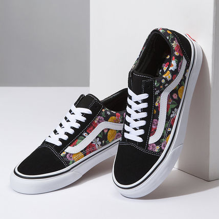 d0f0d874cee ... VANS Low-Top Flower Patterns Plain Toe Rubber Sole Lace-up Casual Style  ...