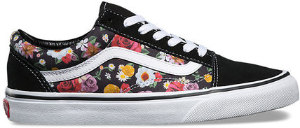 423b0dffa2d ... VANS Low-Top Flower Patterns Plain Toe Rubber Sole Lace-up Casual Style  3 ...