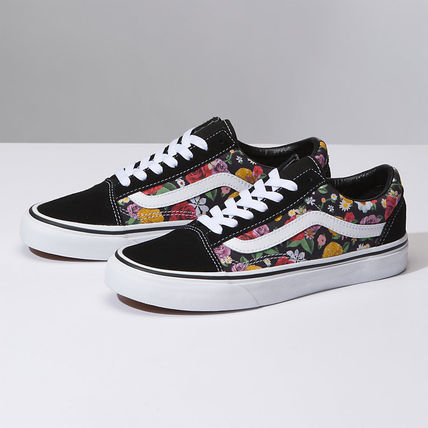 cd8eb960f95 ... VANS Low-Top Flower Patterns Plain Toe Rubber Sole Lace-up Casual Style  5 ...