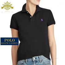 Ralph Lauren Plain Cotton Short Sleeves Polo Shirts