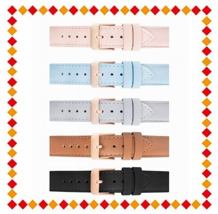 Casual Style Street Style Leather Round Quartz Watches