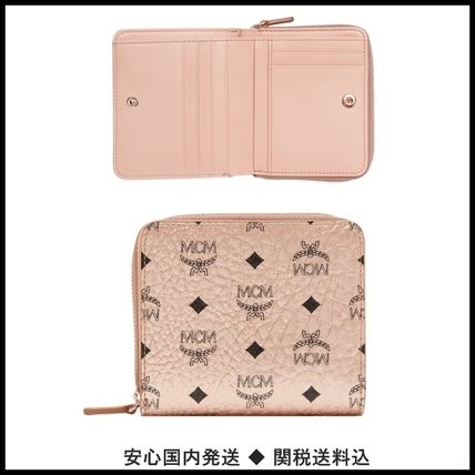 Monogram Unisex Street Style PVC Clothing Folding Wallets