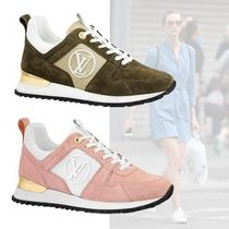 Louis Vuitton Open Toe Casual Style Suede Low-Top Sneakers