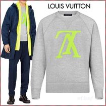 Louis Vuitton Crew Neck Pullovers Blended Fabrics Street Style Bi-color