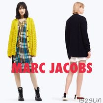 MARC JACOBS Cable Knit Casual Style Wool Plain Long Oversized Knitwear