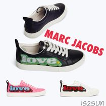 MARC JACOBS Wedge Casual Style Street Style Plain Leather