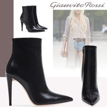 Gianvito Rossi Plain Leather Pin Heels High Heel Boots