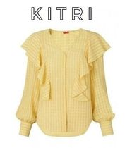 KITRI Gingham Cropped Medium Elegant Style Shirts & Blouses