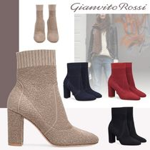 Gianvito Rossi Plain Block Heels High Heel Boots