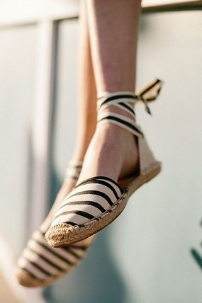 Stripes Casual Style Sandals