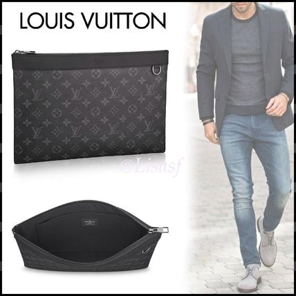 Louis Vuitton Clutches Monogram Canvas Blended Fabrics Street Style Bag in Bag A4