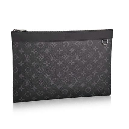 Louis Vuitton Clutches Monogram Canvas Blended Fabrics Street Style Bag in Bag A4 2