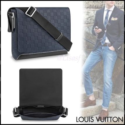 Louis Vuitton Messenger & Shoulder Bags Other Check Patterns Blended Fabrics Street Style 2WAY