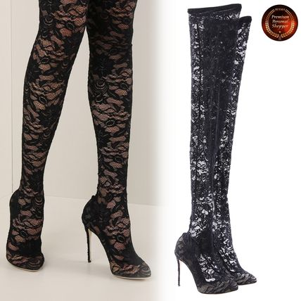 Pin Heels Over-the-Knee Boots