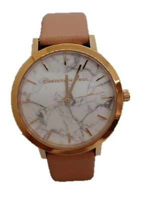 Unisex Leather Round Quartz Watches Elegant Style