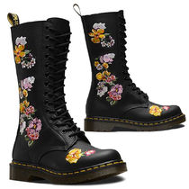 Dr Martens Flower Patterns Lace-up Leather Lace-up Boots