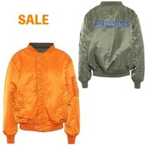 VETEMENTS Casual Style Unisex Street Style Plain Bomber Jackets