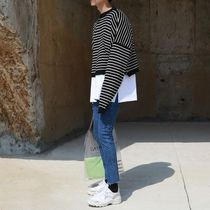 ASCLO Stripes Long Sleeves Knits & Sweaters