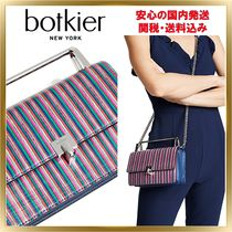 Botkier Stripes 2WAY Chain Leather Elegant Style Shoulder Bags