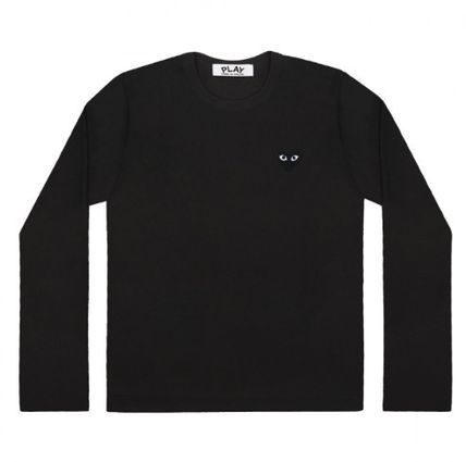 COMME des GARCONS Long Sleeve Heart Unisex Street Style U-Neck Long Sleeves Plain Cotton 3