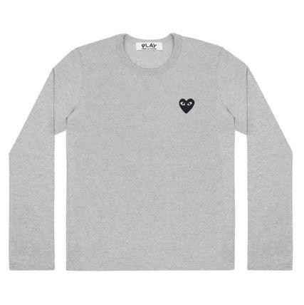 COMME des GARCONS Long Sleeve Heart Unisex Street Style U-Neck Long Sleeves Plain Cotton 4
