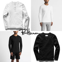 Ron Herman Pullovers Henry Neck Street Style Long Sleeves Plain Cotton