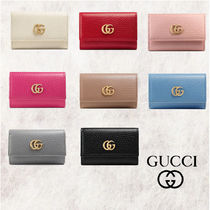 GUCCI GG Marmont Unisex Leather Keychains & Bag Charms