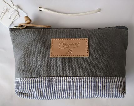 Stripes Canvas Pouches & Cosmetic Bags