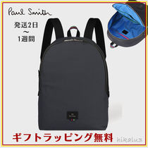 Paul Smith Stripes Unisex Nylon A4 Plain Backpacks