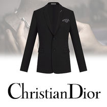 DIOR HOMME Short Wool Plain Blazers Jackets
