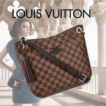 Louis Vuitton Tassel A4 Leather Elegant Style Shoulder Bags