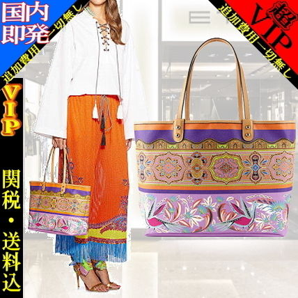 Flower Patterns Paisley A4 PVC Clothing Elegant Style Totes