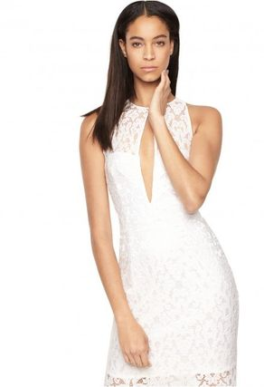 Sleeveless Long Party Style Lace Dresses