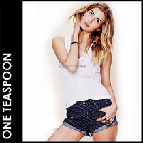 One Teaspoon Short Dots Casual Style Cotton Denim & Cotton Shorts