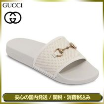 GUCCI Unisex Street Style Plain Leather Shower Shoes
